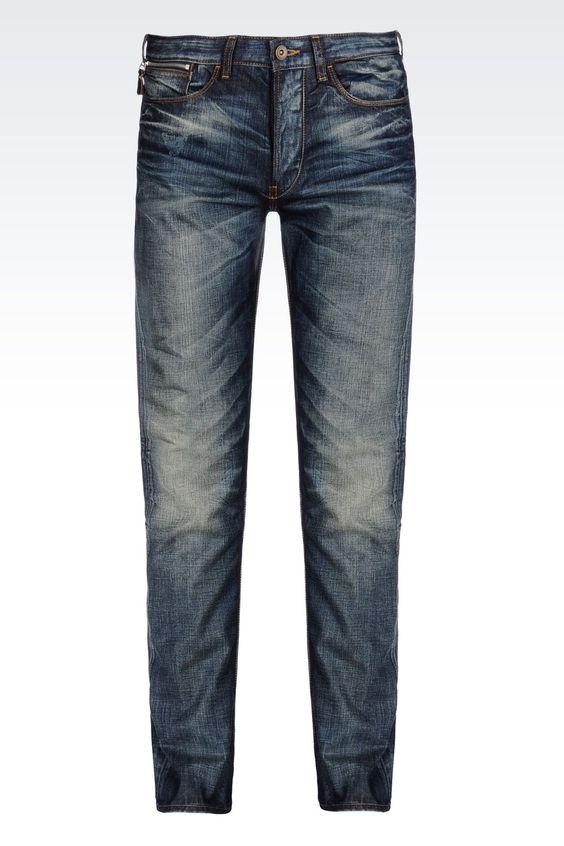 Armani Jeans Men Jeans - DARK WASH ANTI FIT JEANS Armani Jeans ...