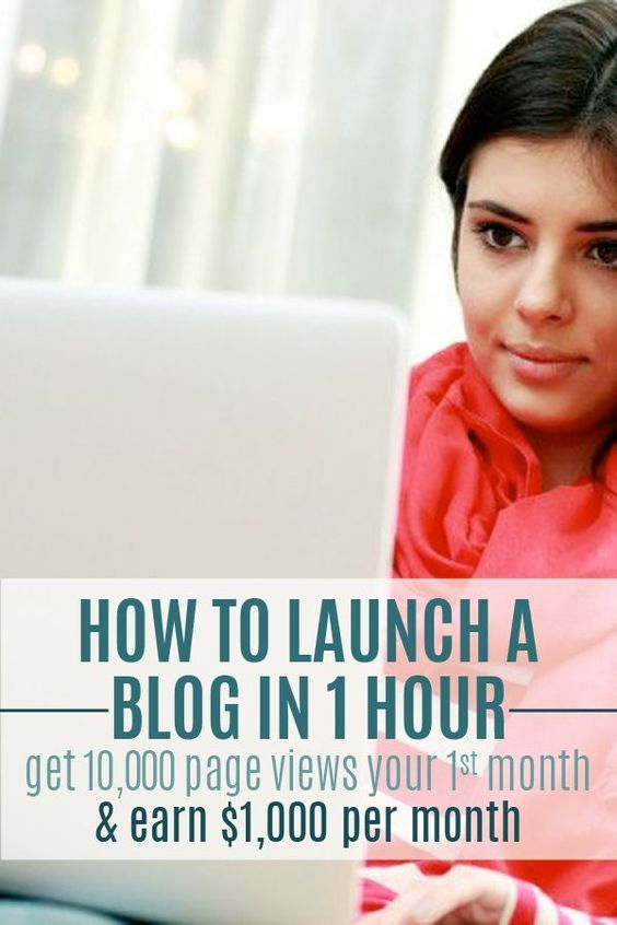 How to Launch a Blog in 1 Hour, get 10,000 pageviews your 1st month, & earn $1,000 per month.