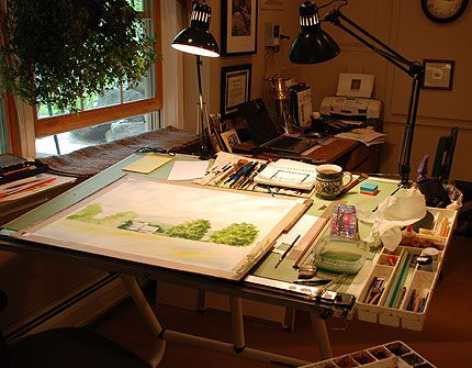 Watercolor Studio Space:
