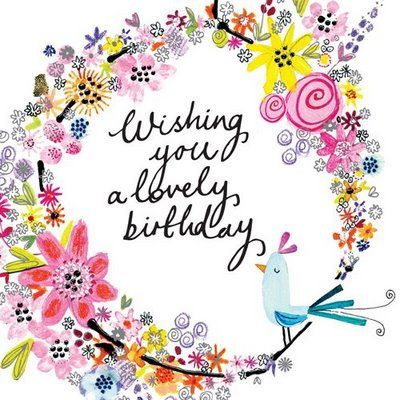 Wishing you a lovely birthday:
