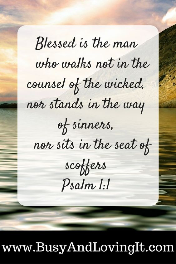 Be blessed. Do not be led when challenged by unbelievers. Let's look at Psalm 1:1