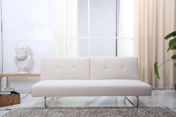 """ECHTWERK® EW-SC-0730 Schlafsofa """"Rio"""" creme couch 2-Sitzer Sofa: Amazon.de: Küche & Haushalt"""