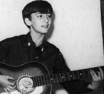 Young John Lennon at 13 years old, Liverpool, England.