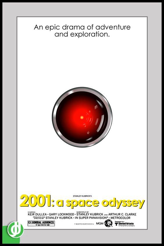 2001: A SPACE ODYSSEY. Poster designed by Jidé.