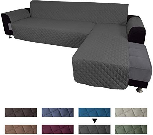 New Easy Going Sofa Slipcover L Shape Sofa Cover Sectional Couch Cover Chaise Lounge Slip Cover Reversible Sofa Cover Furniture Protector Cover Pets Kids Children Dog Cat X Large Dark Gray Dark Gray Online In 2020