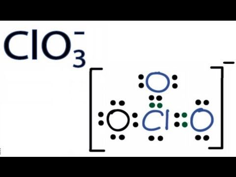 126 Clo3 Lewis Structure How To Draw The Lewis Structure For Clo3 Chlorate Ion Youtube Chemistry Classroom Science Chemistry Chemistry Put least electronegative atom in centre 3. lewis structure for clo3 chlorate ion