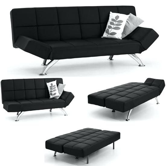 Lovely Black Leather Sofa Bed For Sofa Bed Faux Leather In Black With Chrome Legs 72 Black Leather Leather Sofa Bed Black Leather Sofa Bed Luxury Leather Sofas