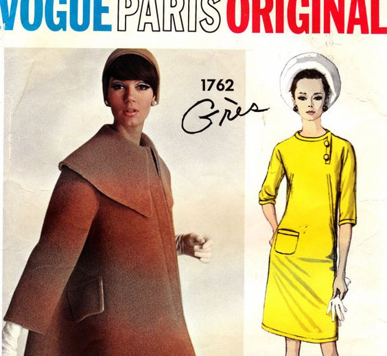 60s Vintage Vogue Paris Original Sewing by allthepreciousthings,