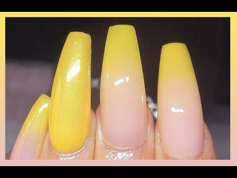 How To Lemon Drop Baby Boomer Acrylic Nails Real Time Speed Talkthrough Youtube Baby Boomers Nails Acrylic Nails Cotton Candy Nails