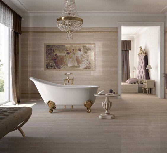Suelos de cerámica ideales para tu sala de baño estilo #Shabby #Decoración  www.azulejospena.es