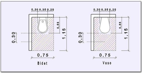 Misure di ingombro minimo per il bidet ed il vaso - Misure bagno minimo ...