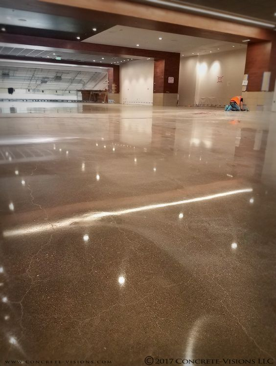 The Shiny New Polished Concrete In Hall Of Champions At Csu S On Campus Stadium Fort Collins Co Concretevisions Cementyourvision Poli