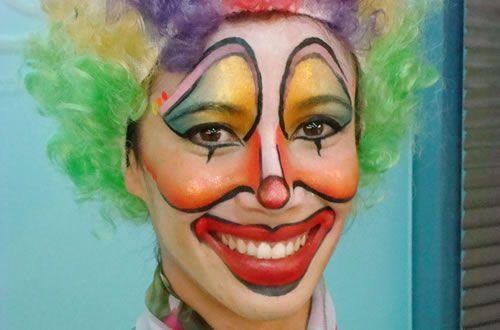 Maquillaje payso, clown make up