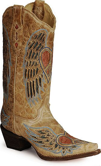 Corral Angel Wing Heart Cowboy Boots..oh mommy