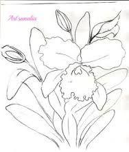 Resultado de imagem para risco de pintura-orquídea