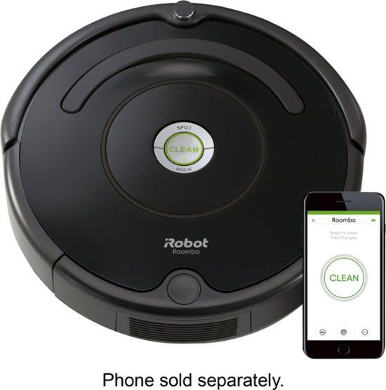Irobot Roomba 675 Wi Fi Connected Robot Vacuum Black R675020 Best Buy Irobot Roomba Irobot Robot Vacuum Cleaner