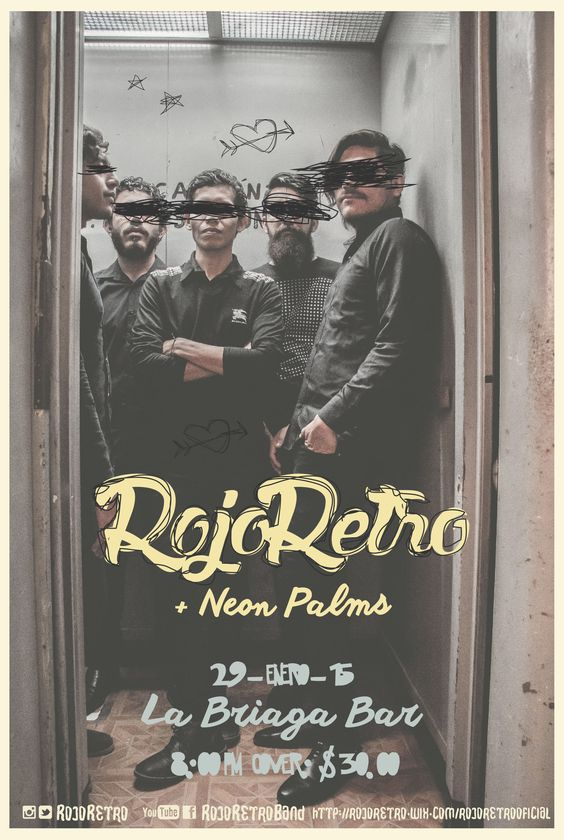 Fotografía y diseño Alicia Rocha - Interiora #RojoRetro #Music #Band #art #illustracion #interiora #graphicdesign