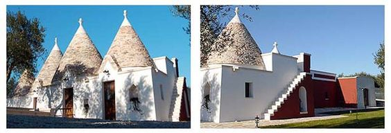 Typical stone houses called Trulli in the Valle d'Itria. Puglia, Italy.