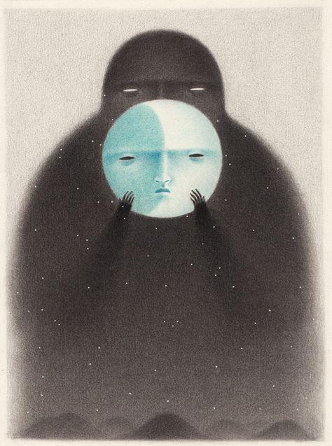 Artista converte a noite em personagem nestas ilustrações sombrias. Veja! - Mega Curioso