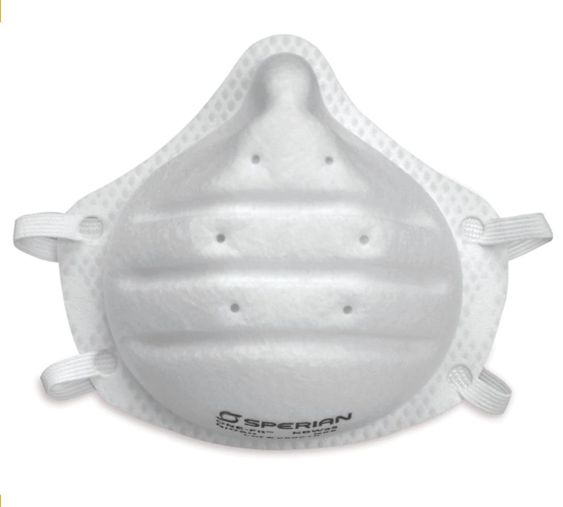 A disposable N95 mask (respirator) is a safety device that covers the nose and mouth and helps protect the wearer from breathing in some hazardous substances. An N95 mask protects you from breathing in small particles in the air such as dust and mold. It is designed to filter out at least 95% of the dust and mold in the air.