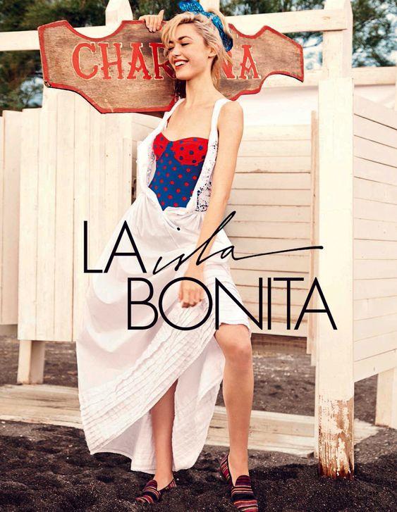 visual optimism; fashion editorials, shows, campaigns & more!: la isla bonita: cora keegan by carlotta manaigo for elle italia june 2013