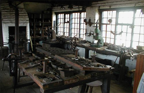 https://flic.kr/p/7kfbjm | Workshop at The Locksmith's House Museum, Willenhall | The Locksmith's House Museum at Willenhall is part of the Black Country Living Museum. Visitors have a chance to experience how a typical lock-making family from this town would have lived and worked. The house and workshops are open to groups by appointment, and Victorian and World War Two themed days are available for schools.