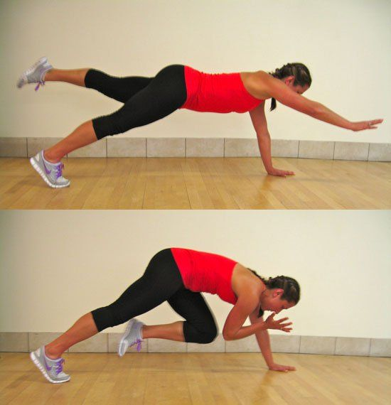 Core Work: Alternating Two-Point Plank