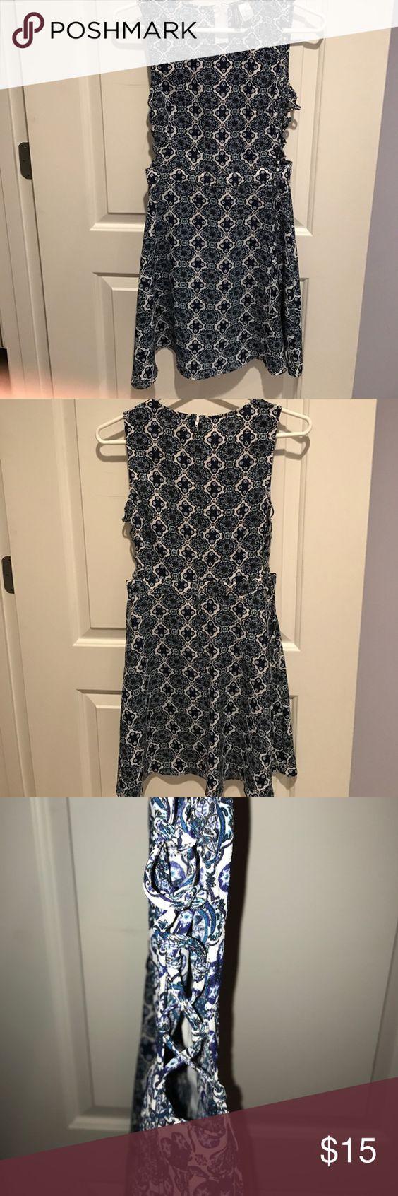 H&m blue lace dress  HuM Cutout Dress Size   H m dress Urban outfitters and Lace
