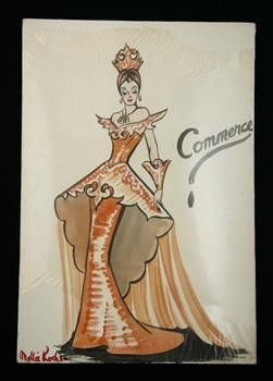 Costume design for Victory Queen Carnival, 'Commerce' - Collections Online - Museum of New Zealand Te Papa Tongarewa