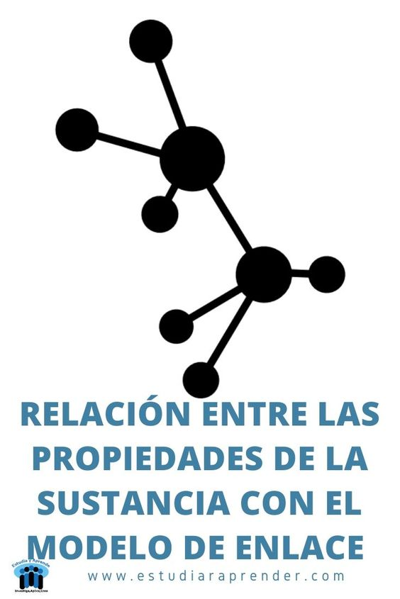 relacion entre las propiedades de la sustancia con el modelo de enlace