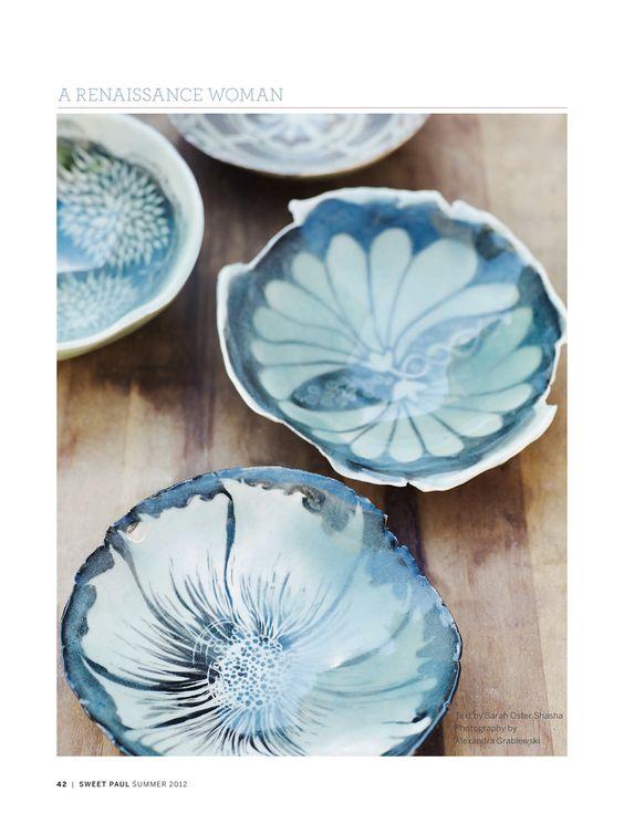 Beautiful Pottery by Lynda White...Sweet Paul Magazine - Summer 2012 - Page 42-43: Ceramics Pottery, Arts Lyndawhite, Beautiful Pottery, Ceramics China, Art Ceramics, Ceramics Sweet, White Ceramics