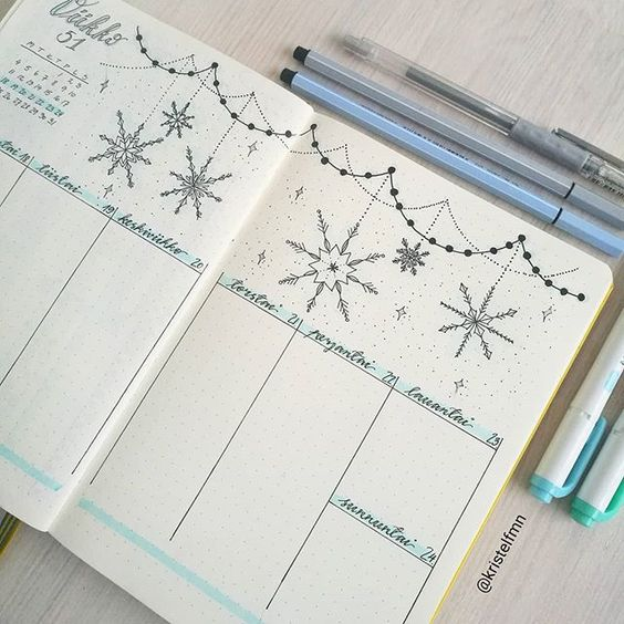Weekly log neige