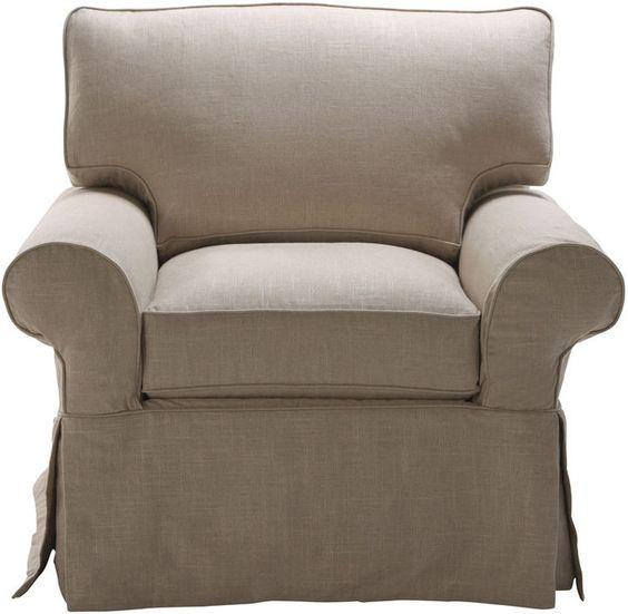 Ethan Allen Bennett Slipcovered Chair on shopstyle.com