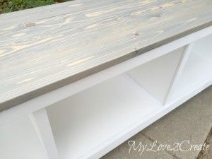 how to make a storage bench out of an old book shelf