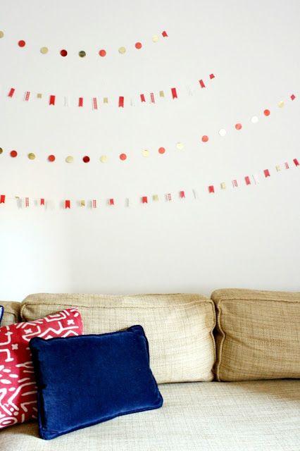 Meet Me in Philadelphia: Christmas Craft #4: Washi Tape + Metallic Dot Garlands