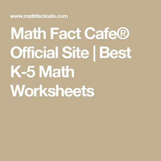 Subtraction Worksheets Subtraction Worksheets Math Cafe – Math Fact Cafe Worksheets