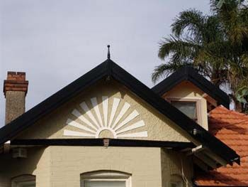 Federation House, rising sun motif on front gable: