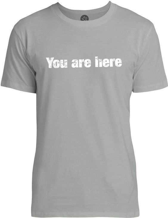 You are Here (White) Mens Fine Jersey T-Shirt