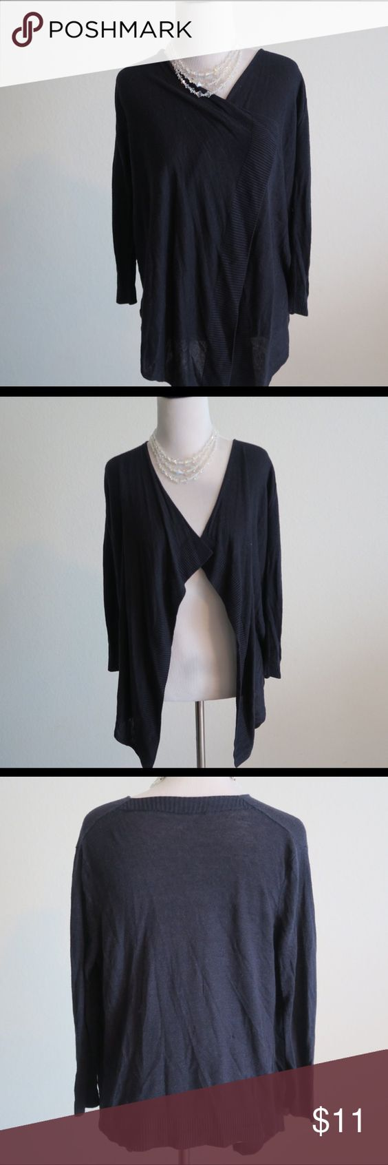 Black Cardigan Sweater Cardigan Size: Small / Medium. Color: Black. Material: 84% Rayon, 16% Silk. Great condition Sweaters Cardigans