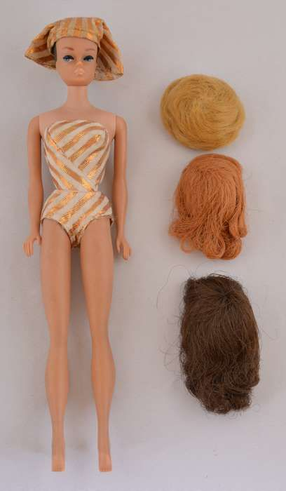 Barbie with 3 Wigs | with 3 ORIGINAL WIGS  SUIT