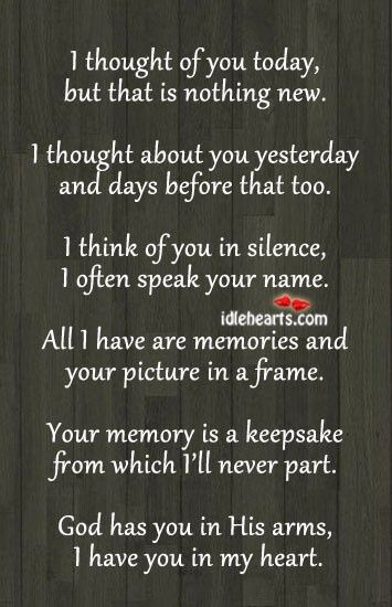 Suppose to be for a memory table at a wedding but I could see also making a memory wall in the home. This poem framed with pictures of family members/friends who have passed away. | Cute Quotes