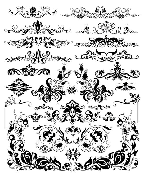 roundup of free vintage ornament  u0026 floral vectors