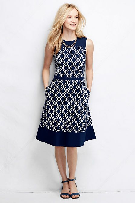 Women&-39-s Ponté A-line Dress - Pattern from Lands&-39- End-bought this ...