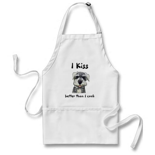 Kiss the Cook Apron Schnauzer