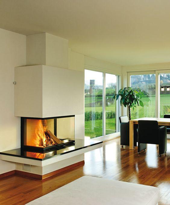 chemin e en ma onnerie foy re en granit noir foyer ruegg. Black Bedroom Furniture Sets. Home Design Ideas