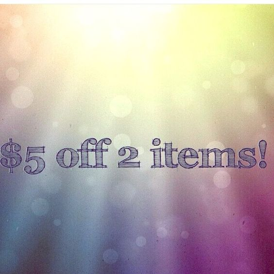 Let's go shopping!!! Make me an offer!! $5 off purchase of 2 items!! Other