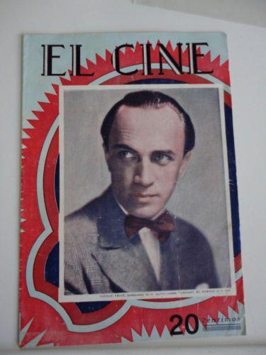 Silent Movie Magazine - El Cine - 1928 - Conrad Veidt