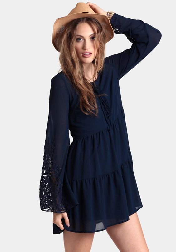 Adorable Lace Dress w/bell sleeves. Too cute!!