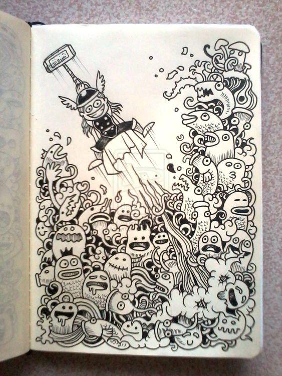 DAILY DOODLES: Thor by kerbyrosanes.deviantart.com on @deviantART