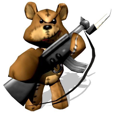 Evil tediz from conker 39 s bad fur day teddy bears with guns kevin pinterest fur bears - Fliesendekor furs bad ...